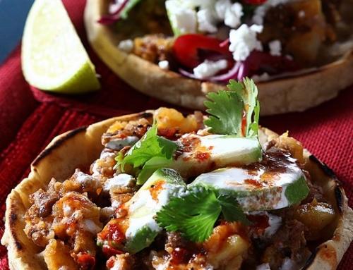 סופאס במילוי תפוחי אדמה וצ'וריסו